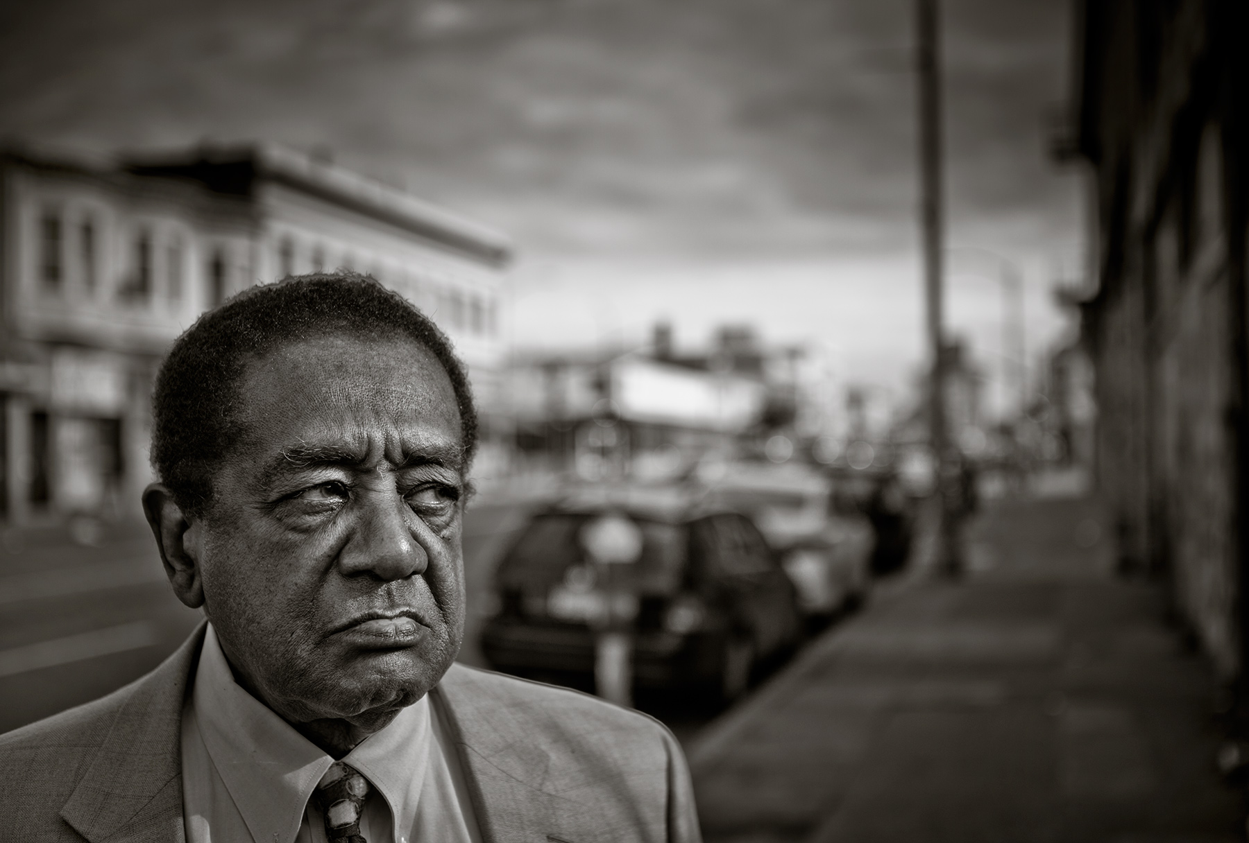 Bobby Seale, the founder of the Black Panthers.